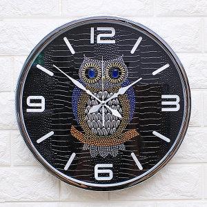 인테리어벽시계 큐빅부엉이360A-블랙/무소음시계 소품