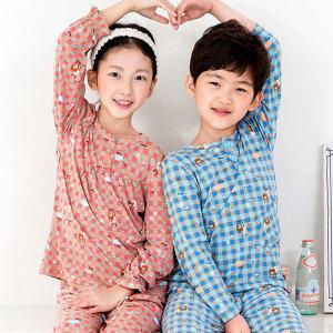 디어 아동잠옷/이지웨어 디어 기모잠옷 (긴팔)