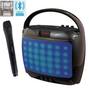 LED블루투스스피커 무선마이크 앰프 USB연결 FM라디오