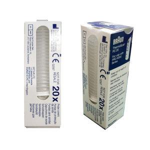 브라운 체온계 전용 렌즈필터 PC20/LF20 1팩(20개)/굿