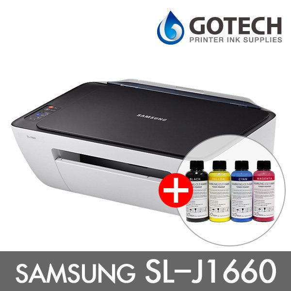 삼성 SL-J1660 잉크젯복합기/정품잉크+리필잉크 포함
