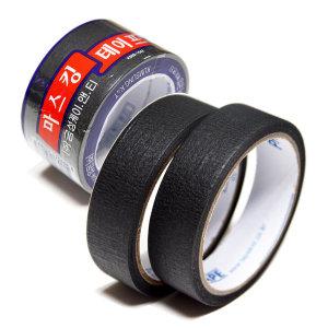 금성 마스킹 테이프 흑색/종이 테이프 24mm2개