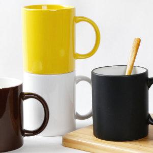 무지 머그컵 모음/손잡이컵 유리 주방 카페 머그컵 컵