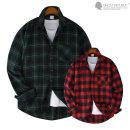 포켓워크 오버핏 빅사이즈 셔츠 / 남성 긴팔 체크셔츠