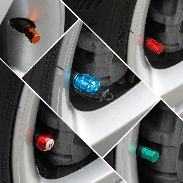 (낱개판매) 차량용 타이어 밸브캡 마개 튜닝 용품