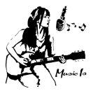 노래소녀 인테리어 벽 스티커