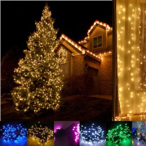 태양광 LED200 300 500구 정원등 트리등 크리스마스등