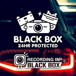 (핫트랙스) 반사 - 블랙박스 네모니멀 / 초보운전 반사스티커 자동차스티커