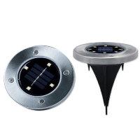 디스크라이트 LED 태양광 정원등 조명 2세트 야외등