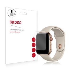 애플워치4 40mm 풀커버 리얼핏 액정보호필름 2매