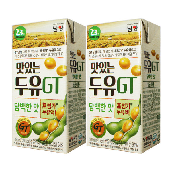 GT두유 담백한맛 190ml x 32팩 / 두유
