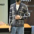 남성 니트 가디건 스웨터 자켓 코트 체크 점퍼 mh33
