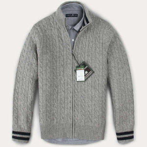 (현대Hmall) FOREST CAMP Lambswool Zip-Up Cable Cardigan/램스울 집업 케이블 가디건/∼4XL FCSW8404-Med