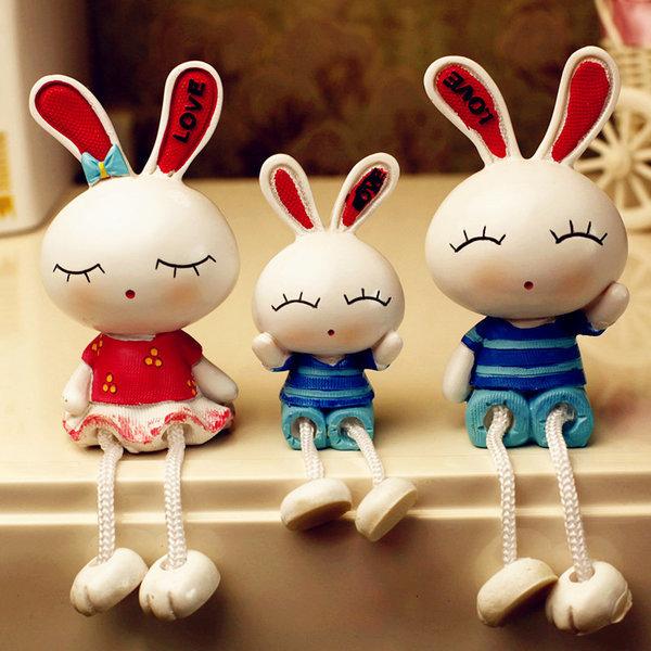 토끼장식품/토끼인형/실내장식 인테리어소품차량용장식
