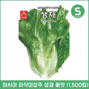 생채씨앗 1500립 아삭이상추 상추씨앗 쌈채소 샐러드