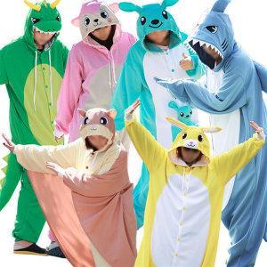 동물잠옷/커플잠옷/상어/날다람쥐/펭귄/수면잠옷