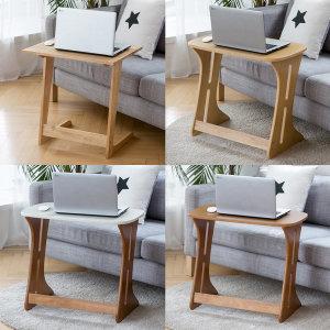 원목 1인 싱글 소파테이블 사이드테이블 다용도테이블