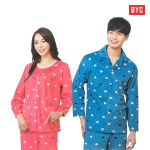 BYC 남녀 프리미엄 극세사 수면잠옷 커플잠옷