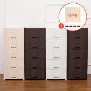 올맘 5단서랍장/플라스틱서랍장/ 사은품 탑커버증정