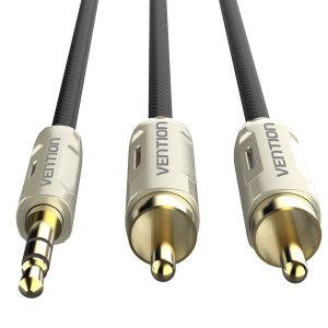 벤션 프리미엄 3.5 스테레오 2 RCA 오디오 케이블 2m