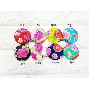 꽃과 나비 싸개단추/배씨머리핀재료/한복싸개단추