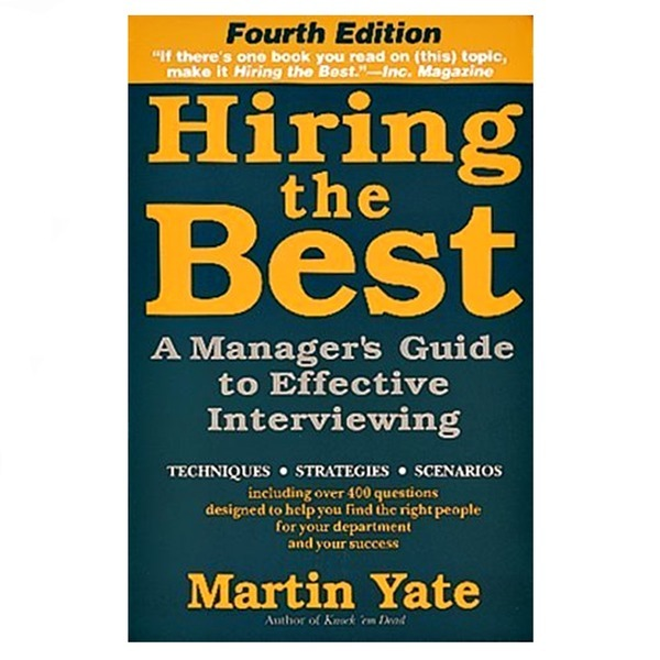 영문서적Hiring the Best Martin Yate 인터뷰잉