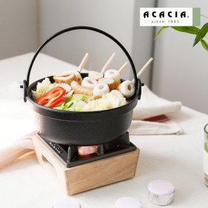 혼밥/캠핑용 내츄럴 워머 + 무쇠주물시리즈세트 6종택1