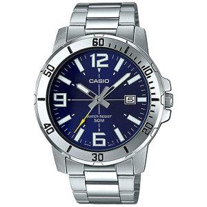 카시오정품 MTP-VD01D-2B 전자손목시계 남성메탈 패션