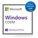 윈도우 10 Pro 64bit DSP 한글 COEM /DSP/정품s