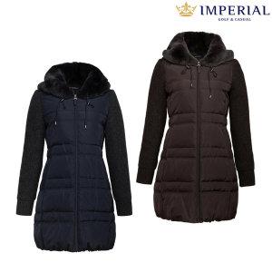 여성 겨울 토끼털넥 다운 코트(PTYC402)