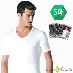 남성반팔런닝/5매입/세트/면/남자속옷/내의/티셔츠