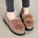 여성 털단화 털신발 모카신 털신 여자 겨울 신발