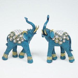 청코끼리2p세트  인테리어 장식소품 꾸미기 개업선물