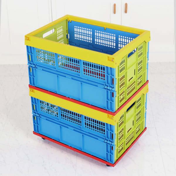 (현대Hmall)접이식 조립박스(중) / 플라스틱 수납함 / 플라스틱 정리함