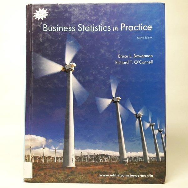영문서적business statistics in practice / Bruce