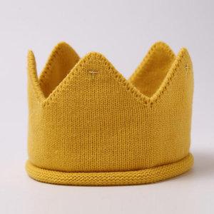 무료배송 크라운 아기 유아 니트 왕관모자