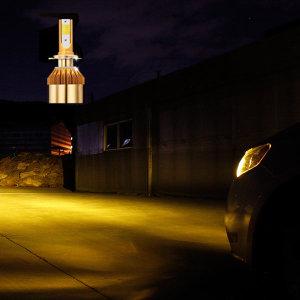 자동차 LED 전조등 안개등 3웨이 H4 H7 H8 880 9006