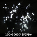 LED연결 크리스마스 트리전구 100구연결 검정선-백색