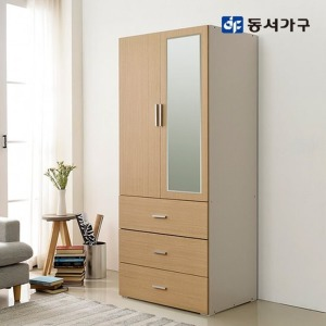 동서가구 블리스 800 3단서랍 화장대형 도어옷장