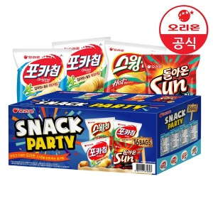 스낵파티 1박스(포카칩/스윙칩/돌아온썬 16봉)