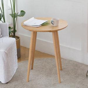 원목 카페 커피 티테이블 원형600 네추럴