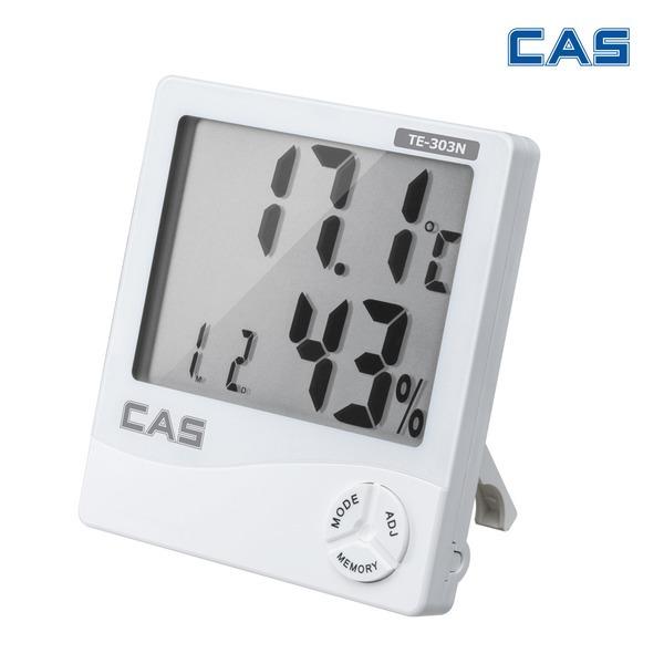 카스 TE-303N 디지털 온습도계 온도 습도 시계