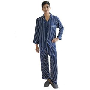 남자 실크 파자마 상하세트 잠옷 네이비스트라이프