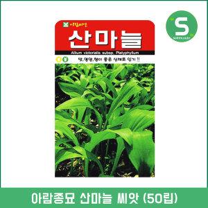 아람종묘 산마늘씨앗 50립 명이나물씨앗 산채 보양채