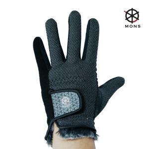 몽스 동계 골프장갑 남성양손 손목퍼 니트장갑 겨울용