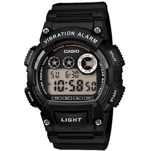 카시오정품 W-735H-1A 진동알람 스포츠 전자손목시계
