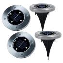 디스크라이트 LED 태양열 정원등 조명 4세트 조명등
