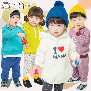 겨울 아동복 면 티셔츠 반폴라 맨투맨 후드티 카라티