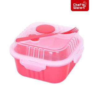 셰프웨어 BPA Free 샐러드 런치박스 정사각 830ml
