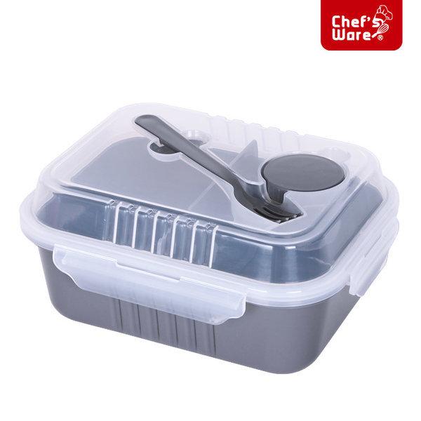 셰프웨어 BPA Free 샐러드 런치박스 직사각 1700ml